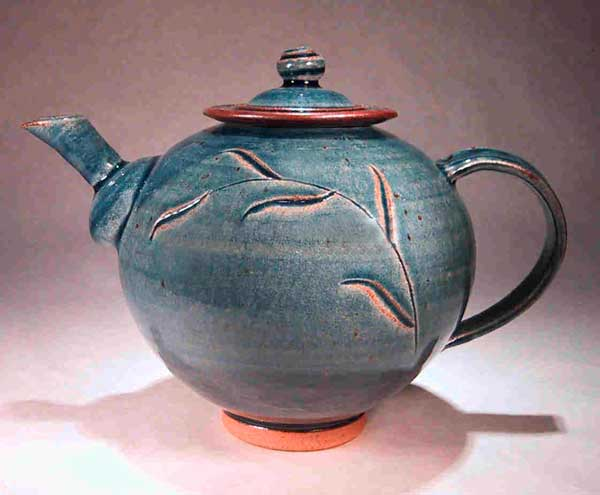 blue leaf teapot